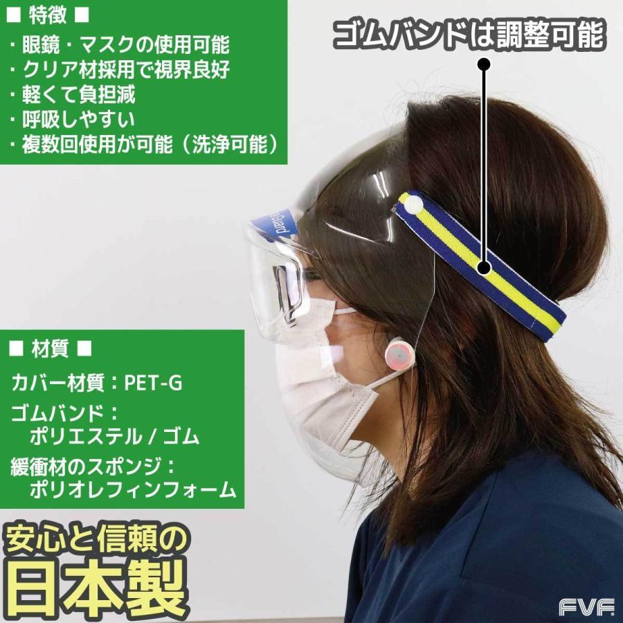 3D Full-face Guard【3D フルフェイスガード】フルフェイスシールド 日本製 飛沫対策に 作業現場に 接客現場に 医療現場に サバイバルゲームに 送料無料|fvf|03