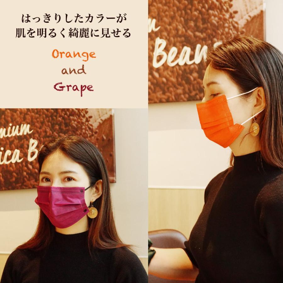 マスク 50枚入2色混合 2色25枚づつ 1枚ごと包装 表と裏色違う 3層構造 カラーマスク 使い捨てマスク 不織布マスク 保護マスク g-direct 12