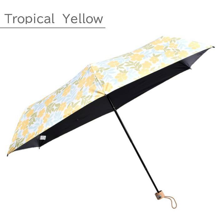 日傘 折りたたみ 完全遮光 UVカット 折りたたみ傘 100% 遮光 レディース 軽量 軽い 晴雨兼用 トロピカル柄 g-winkelen-store 11
