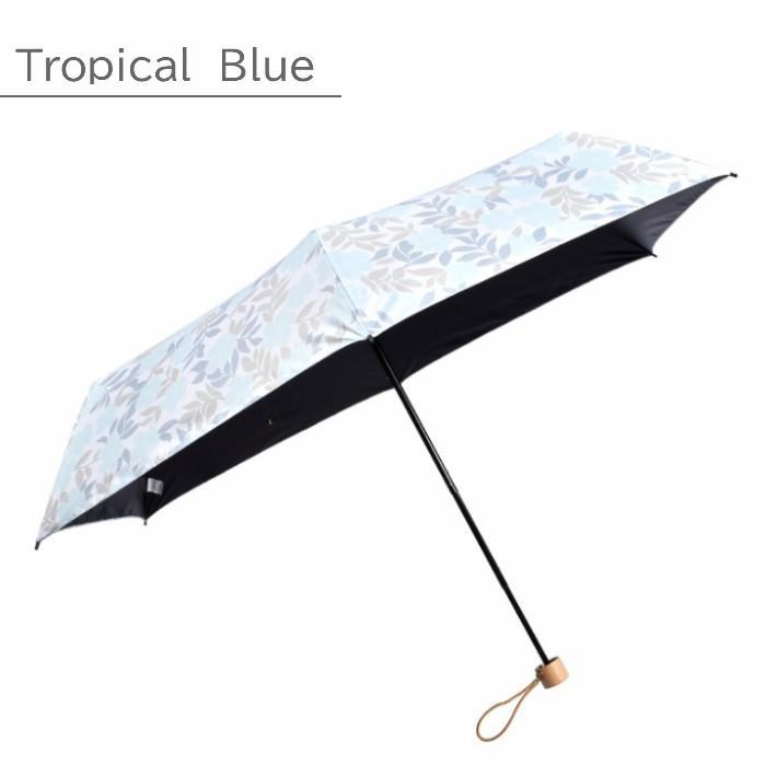 日傘 折りたたみ 完全遮光 UVカット 折りたたみ傘 100% 遮光 レディース 軽量 軽い 晴雨兼用 トロピカル柄 g-winkelen-store 12