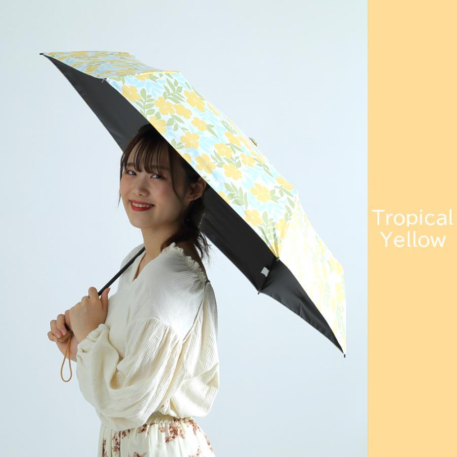 日傘 折りたたみ 完全遮光 UVカット 折りたたみ傘 100% 遮光 レディース 軽量 軽い 晴雨兼用 トロピカル柄 g-winkelen-store 13