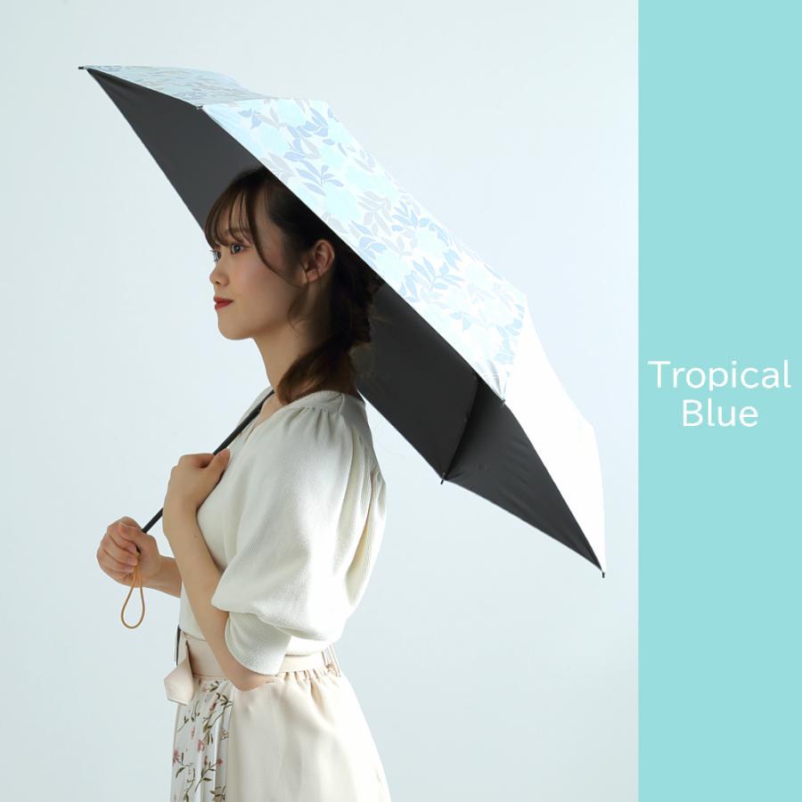 日傘 折りたたみ 完全遮光 UVカット 折りたたみ傘 100% 遮光 レディース 軽量 軽い 晴雨兼用 トロピカル柄 g-winkelen-store 14