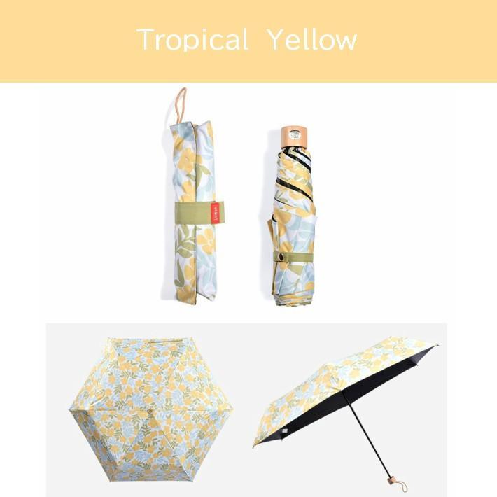 日傘 折りたたみ 完全遮光 UVカット 折りたたみ傘 100% 遮光 レディース 軽量 軽い 晴雨兼用 トロピカル柄 g-winkelen-store 09