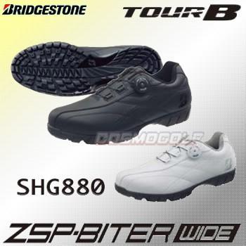 ブリヂストン BRIDGESTONE  TOUR B ゼロ・スパイク バイターワイド  スパイクレス ゴルフシューズ SHG880 (2019秋冬継続)