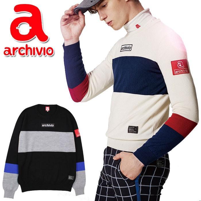アルチビオ archivio ゴルフ セーター プルオーバー A828912 メンズ 2018年秋冬