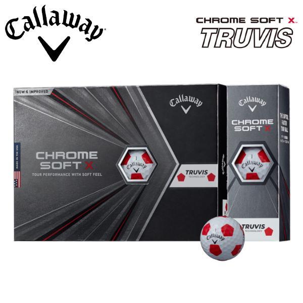 3ダースで送料無料 キャロウェイ お気にいる 2020モデル クロムソフト X 今ダケ送料無料 トゥルービス ホワイト レッド ゴルフボール 1ダース 12球入り