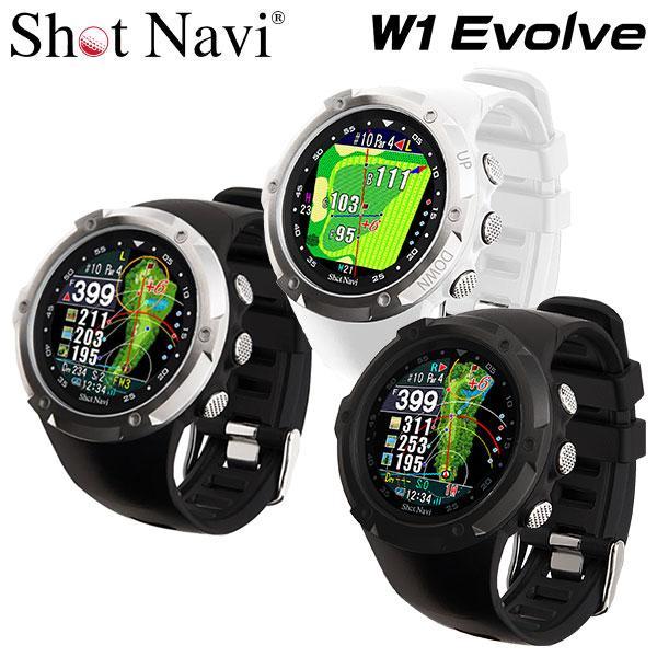 ショットナビ ゴルフ 通信販売 W1 エヴォルブ 腕時計型GPSナビ 2021モデル Navi Evolve 売却 Shot
