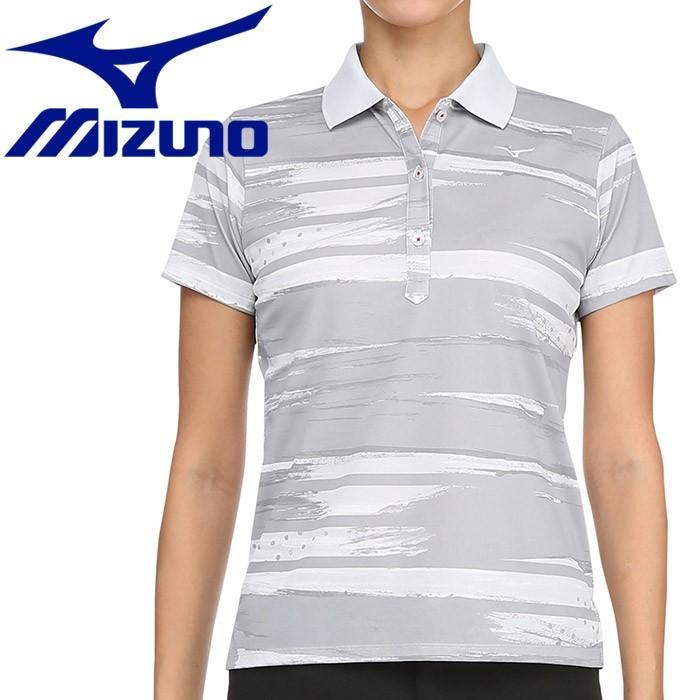 ミズノ ゴルフ グラフィック半袖ポロシャツ レディース 52MA920103