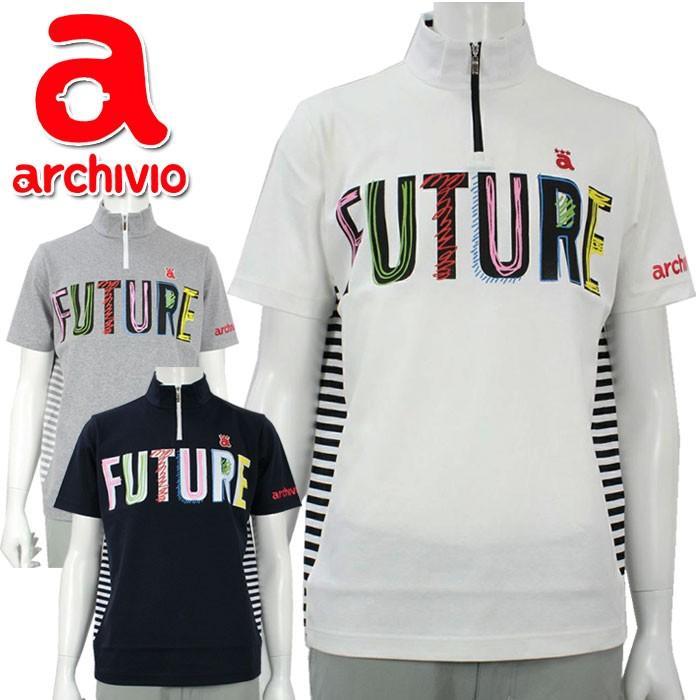 アルチビオ archivio ゴルフウェア 半袖プルオーバー ハーフジップシャツ A929902 メンズ 2019秋冬