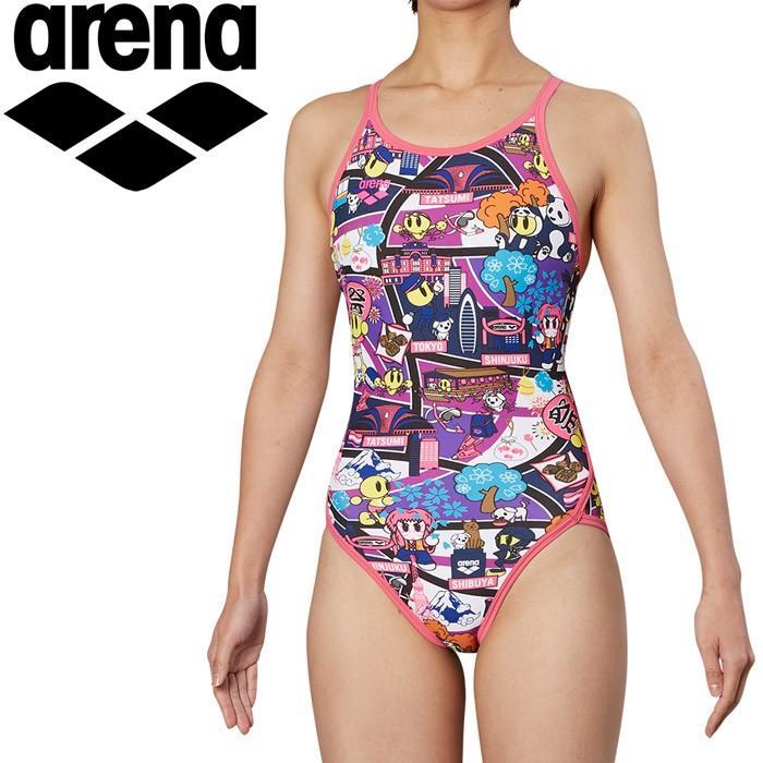 アリーナ 水泳 スーパーフライバック トレーニング 水着 レディス FSA-9620W-PPYL