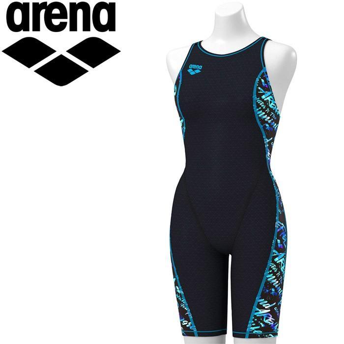 アリーナ 水泳 タフハーフスパッツ 着やストラップ トレーニング 水着 レディス FSA-9623W-BKBU