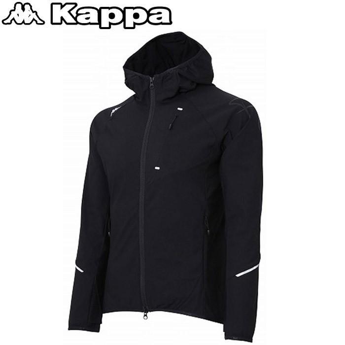 カッパ サッカー ストレッチニットフーデットジャケット メンズ KL812KT04-BK