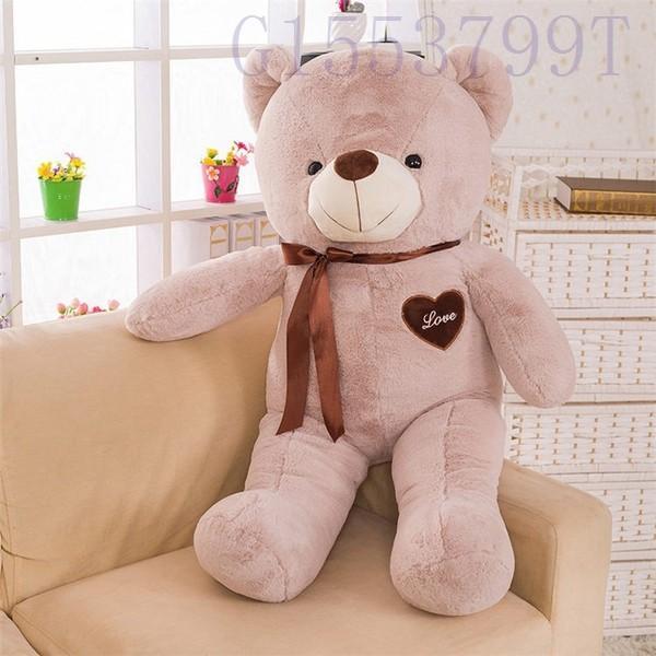 90cmかわいいテディベア大きいクマのぬいぐるみ大ギフト子供彼氏彼女家族リボン g1553799t