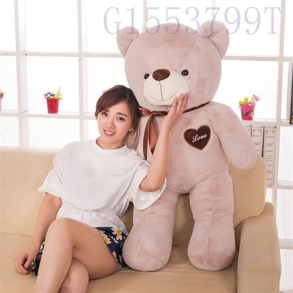 90cmかわいいテディベア大きいクマのぬいぐるみ大ギフト子供彼氏彼女家族リボン g1553799t 03