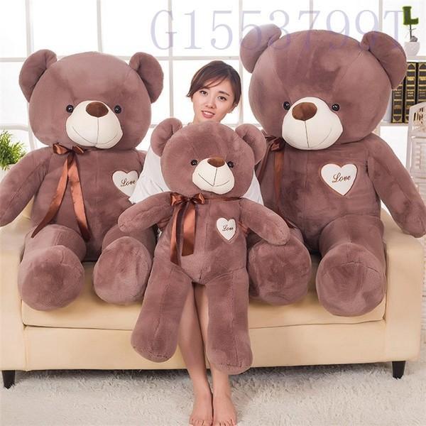90cmかわいいテディベア大きいクマのぬいぐるみ大ギフト子供彼氏彼女家族リボン g1553799t 04