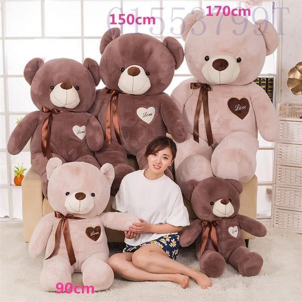 90cmかわいいテディベア大きいクマのぬいぐるみ大ギフト子供彼氏彼女家族リボン g1553799t 05