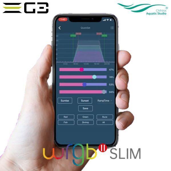 送料無料 Chihiros WRGBII Slim 30 水草育成用LED照明 30-45cm水槽用 g3aqualab 06