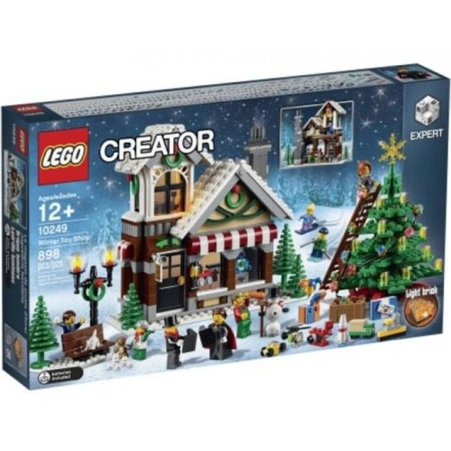 レゴ ブロック セット LEGO Creator Expert Winter Toy Shop Building Block Set 898 Pce Christmas Santa