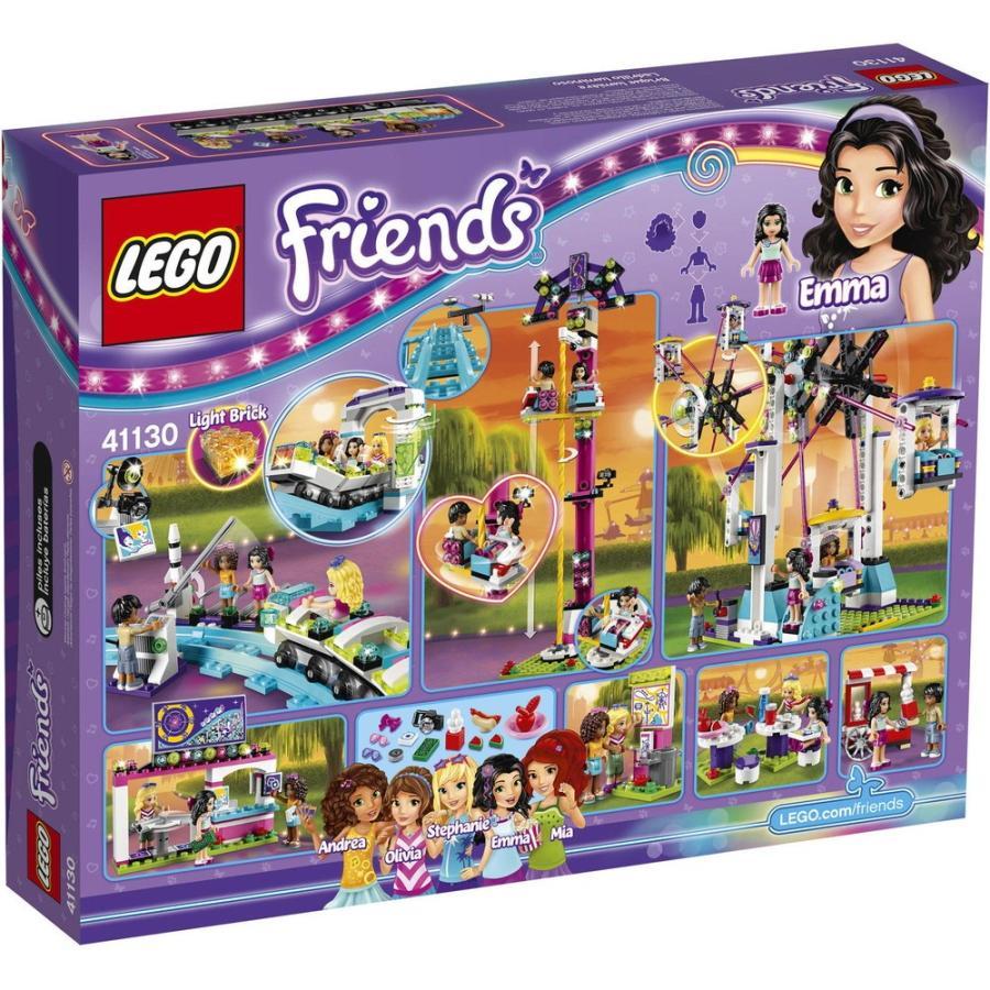 レゴ ブロック セット LEGO Friends Amusement Park Roller Coaster 41130 Building Toy Set Ferris Wheel