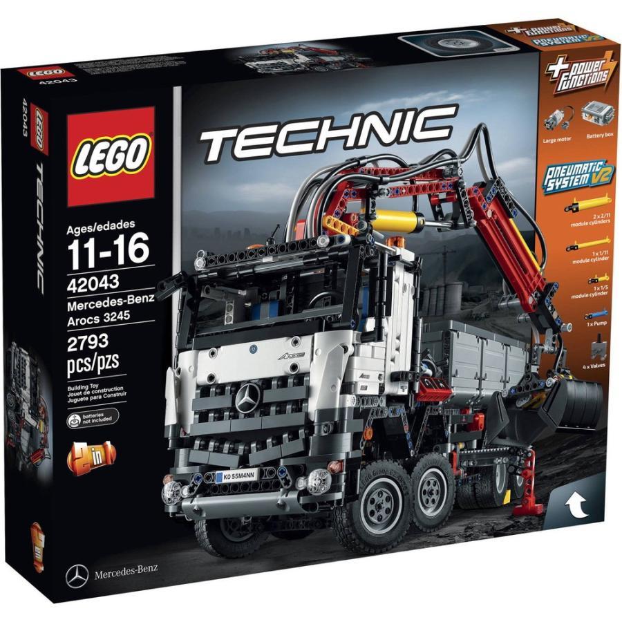 レゴ ブロック セット LEGO Technic Mercedes-Benz Arocs Construction Truck 42043 Dual Building Toy Set