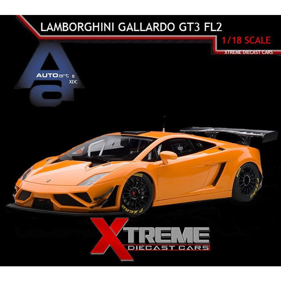おもちゃ 車 トラック バン AUTOART 81357 1:18 LAMBORGHINI GALLARDO GT3 FL2 2013 METALLIC オレンジ SUPERCAR