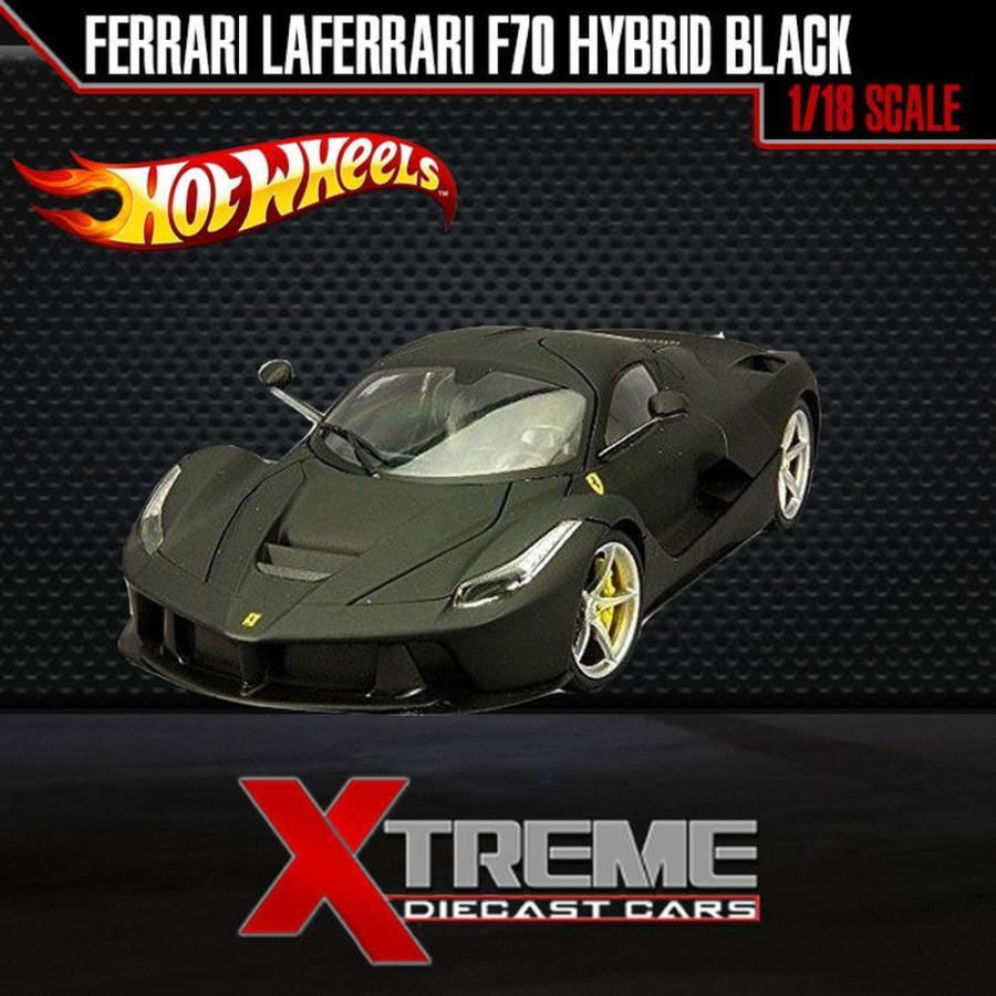 おもちゃ 車 トラック バン HOTWHEEL BLY53 1:18 FERRARI LAFERRARI F70 HYBRID MATT 黒 SUPERCAR DIECAST