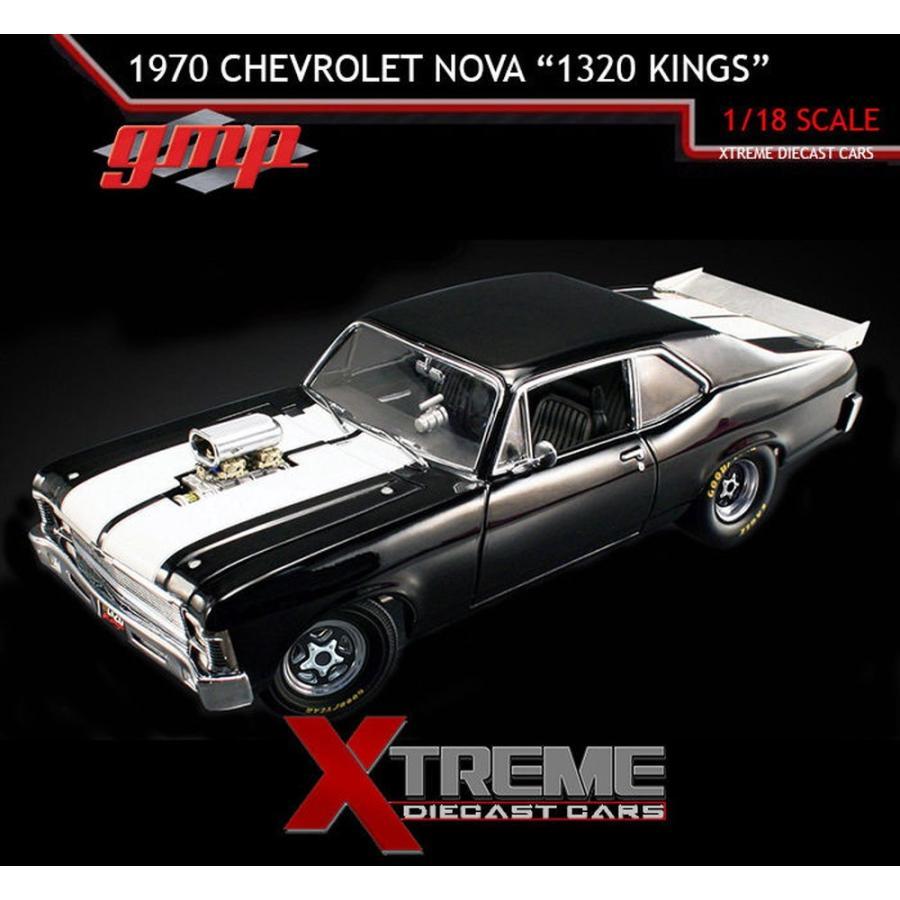 """おもちゃ 車 トラック バン GMP 18808 1:18 1970 CHEVROLET NOVA """"1320 KINGS"""" NHRA DRAG CAR LIMIT ED OF 1,074"""