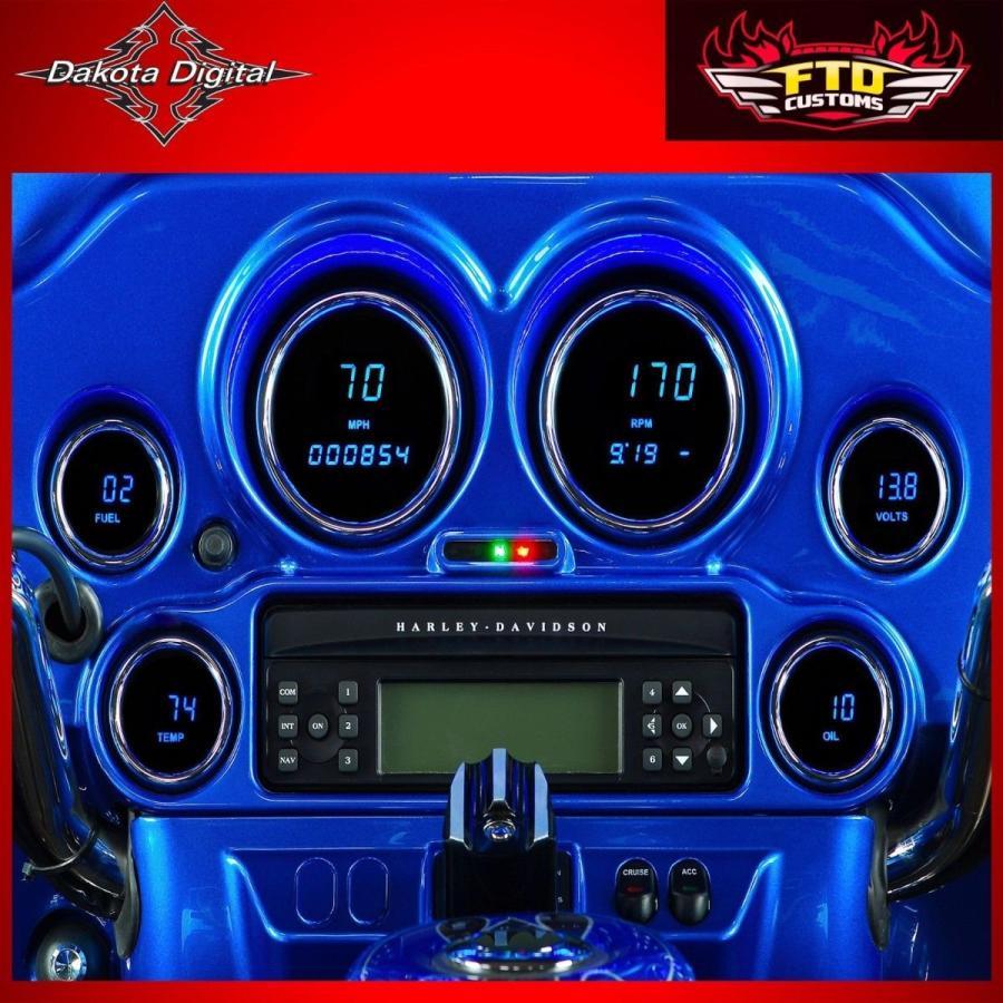 カー用品 パーツ アクセサリー オートバイ ダコタ デジタル MCL-3000 シリーズ Six ゲージ キット2004-2013 Baggers 2212-0180