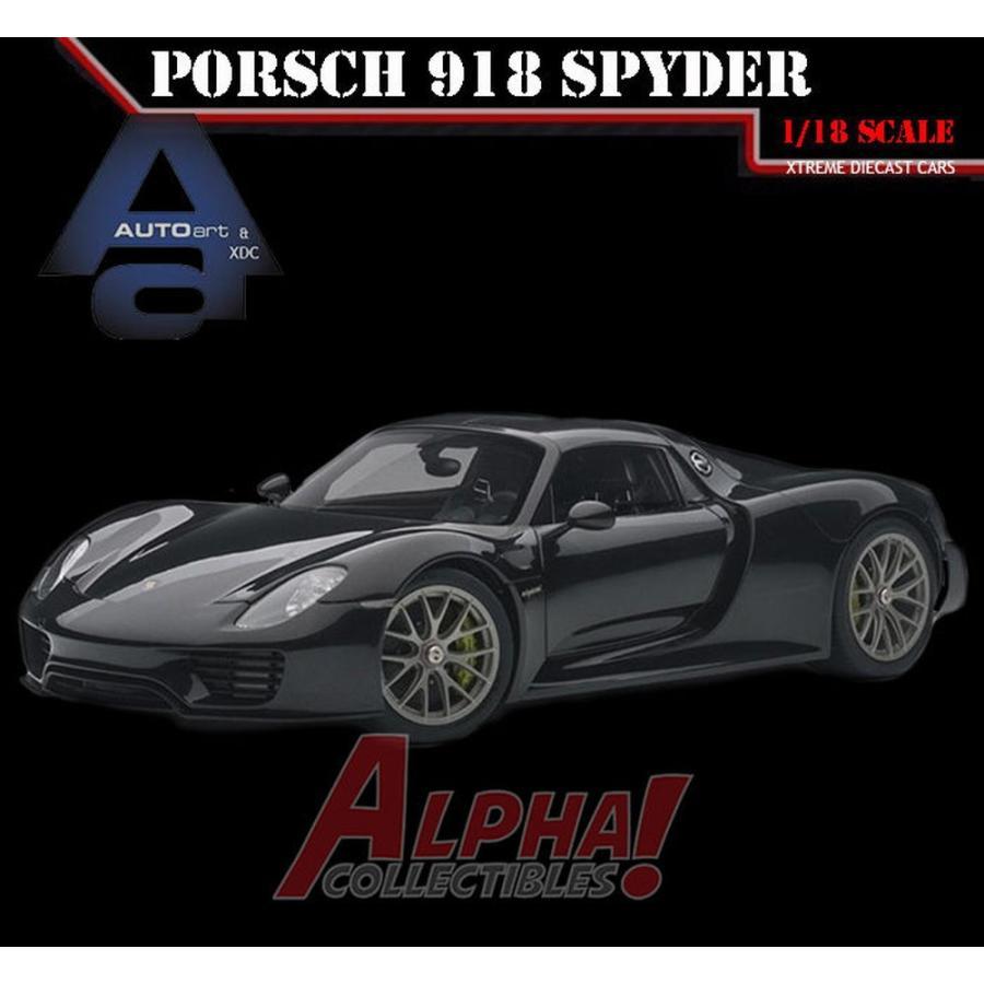 おもちゃ 車 トラック バン AUTOART 77928 1:18 PORSCHE 918 SPYDER BASALTSCHWARZ METALLIC 黒 SUPERCAR