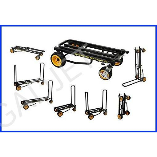 """Rock-N-Roller R16RT (Max Wide) 8-in-1 Folding Multi-Cart/Hand Truck/Dolly/Platform Cart/34"""" to 52"""" Telescoping Frame/600 lbs. Load Capacity, Black"""