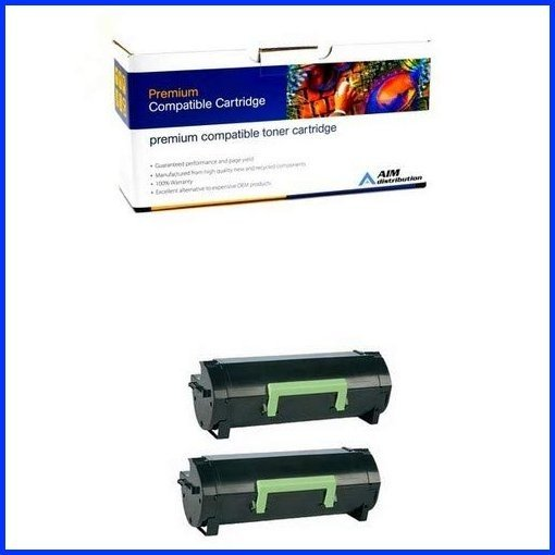 - Generic 2//PK-10000 Page Yield AIM Compatible Replacement for Lexmark MS-410//510//610 High Yield Toner Cartridge 50F0XA02PK NO. 501X