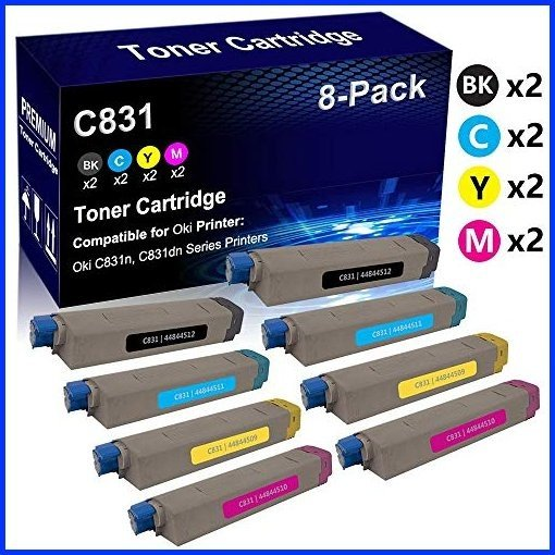 BK//C//M//Y AIM Compatible Replacement for Muratec MFX-C4590//C5590 Toner Cartridge Combo Pack TS-5590BCMY - Generic