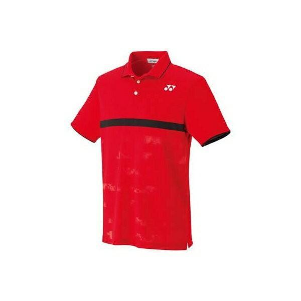 ◆◆送料無料 メール便発送 <ヨネックス> YONEX ユニセックス ゲームシャツ(フィットスタイル) 10265 (496:サンセットレッド) テニス(10265-496