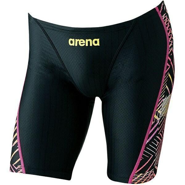 ◆◆○ <アリーナ> ARENA メンズ競泳用マスターズスパッツアクアレーシング ARN8070M-BKPK(arn8070m-bkpk-are1)