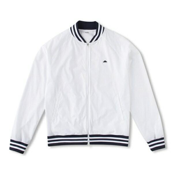 ◆◆□ <エレッセ> ellesse クラブジャケット(メンズテニスウェア) EM58101 (W:ホワイト) テニス(em58101-w-els1)