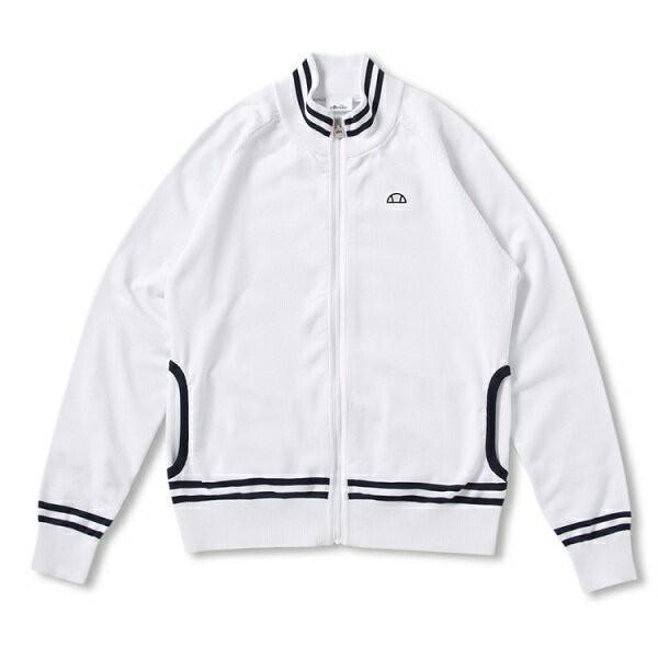 ◆◆□ <エレッセ> ellesse クラブニットジャケット(レディース テニスウェア) EW78101 (W:ホワイト) テニス(ew78101-w-els1)