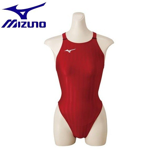 ◆◆ <ミズノ> MIZUNO 競泳用ハイカット[レディース] N2MA8221 (62:レッド)