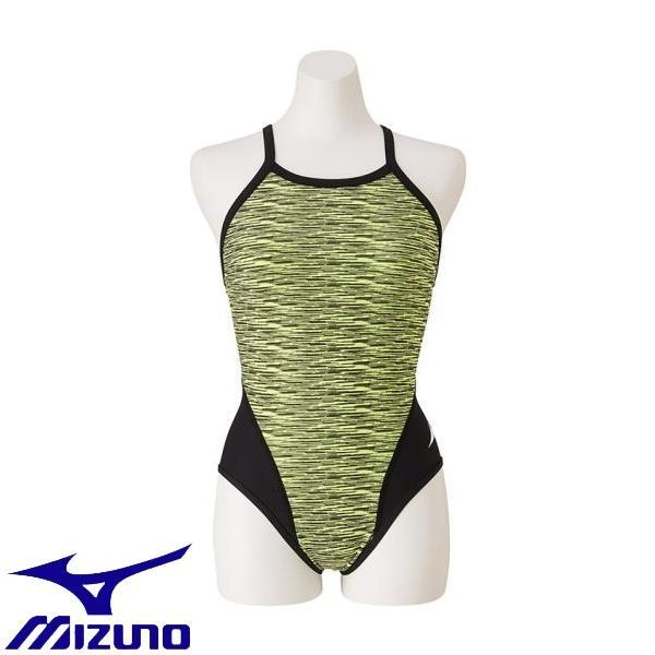 ◆◆送料無料 メール便発送 <ミズノ> MIZUNO 競泳練習用ミディアムカット[レディース] N2MA9775 (31:セーフティーイエロー) フィットネス