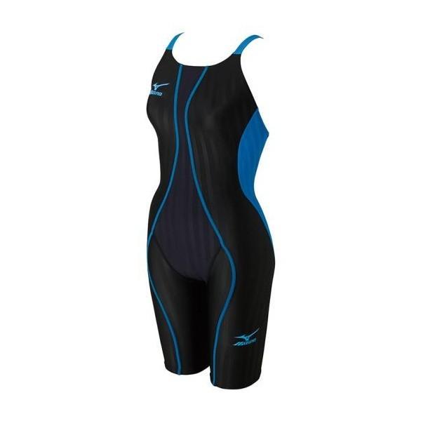 ◆◆【クリアランス】【返品・交換不可】 <ミズノ> MIZUNO 競泳用FX・SONIC ハーフスーツ[ジュニア] N2MG7430 (91:ブラック×ターコイズ)