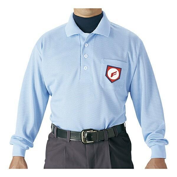 ◆◆ <エスエスケイ> SSK 審判用長袖ポロシャツ UPW028 (65:パウダーブルー ) エスエスケイ (upw028-65-ssk1)