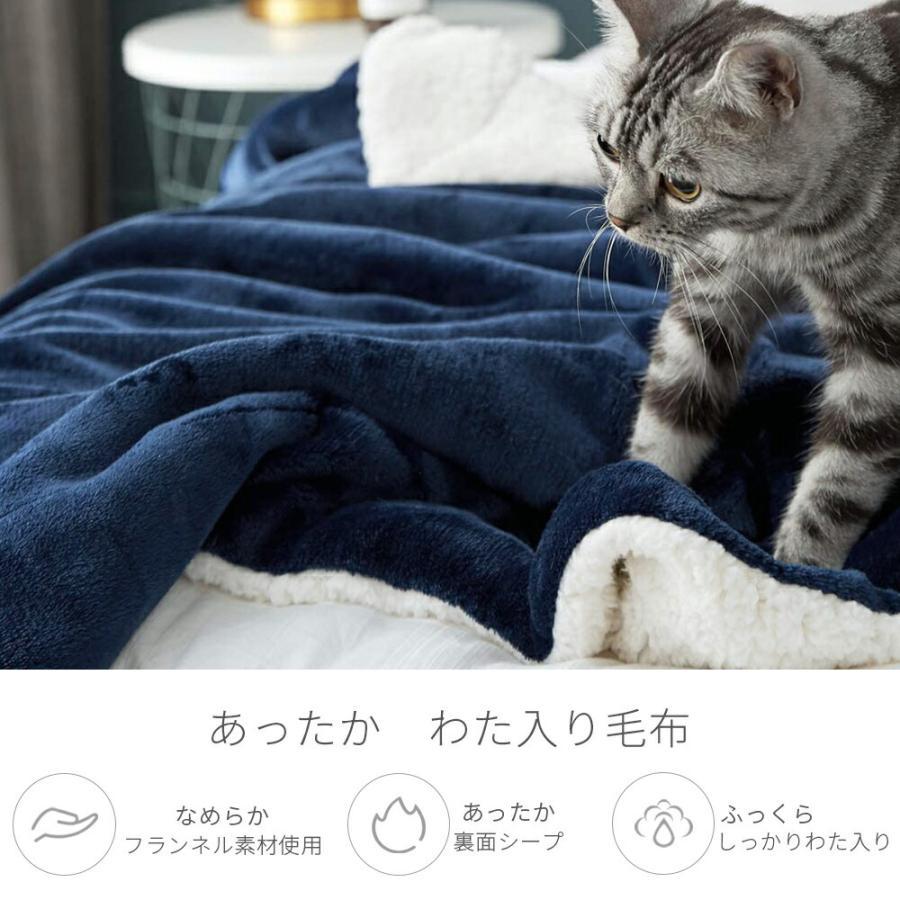 毛布 シングル 2枚合わせ 厚手 あったか 冬 ブランケット 暖かい かわいい 掛毛布 掛け布団 冬 フランネル ボア もうふ 洗える おすすめ おしゃれ 140×200cm gaisense 08