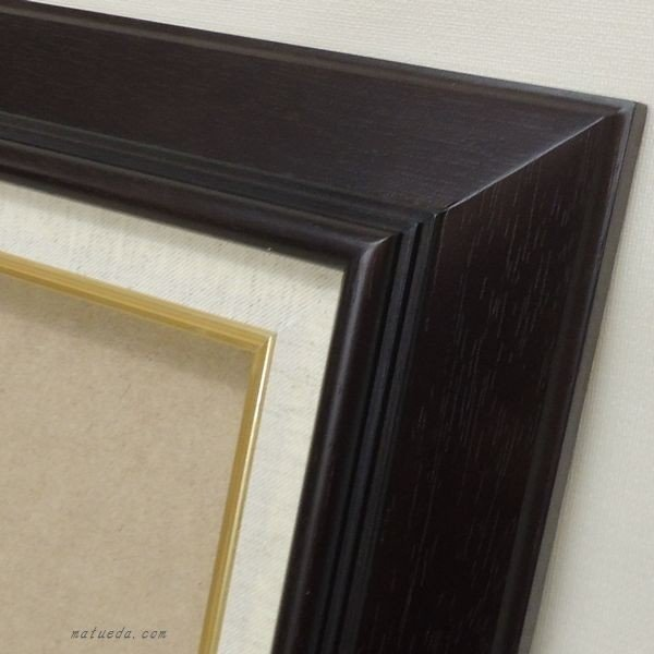 KL-02 F8号 (455×380mm) 油絵用額縁 油彩用額縁 木製 油彩額縁 ブラウン/ナチュラル 油彩額 大仙 アウトレット品|gakubutiya|03
