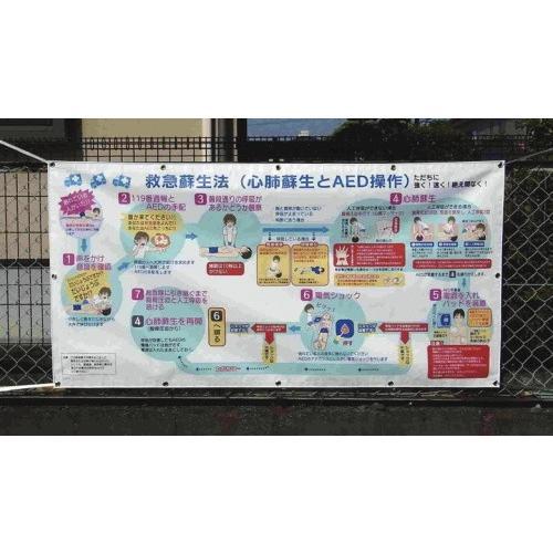 輝く高品質な 救急蘇生法パネル (垂れ幕タイプ), ヤイタシ 904faa23