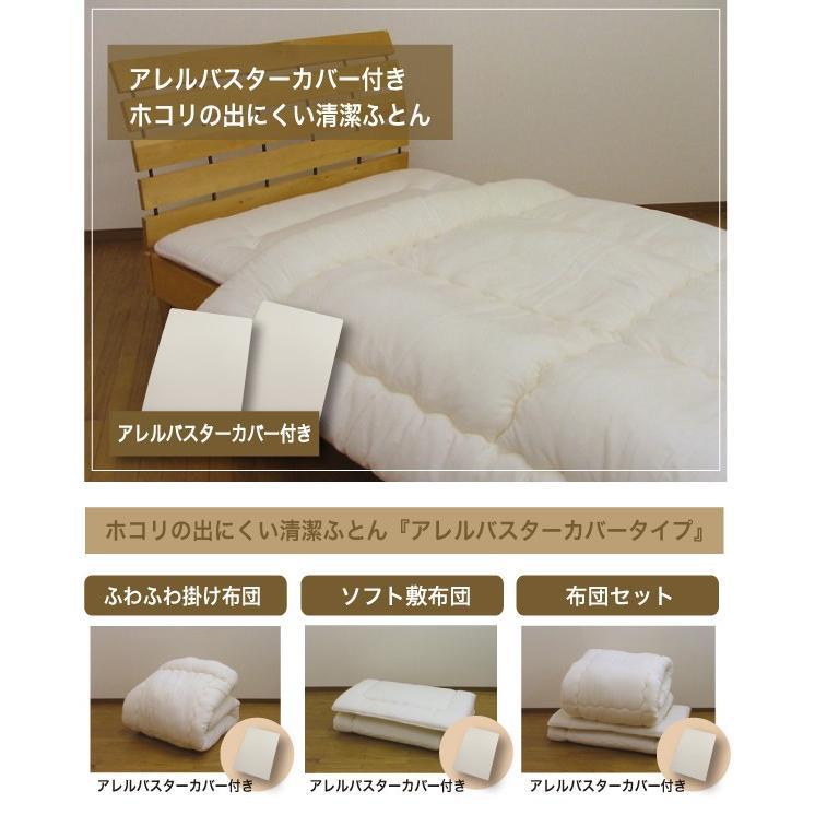 アレルバスターカバー付き ホコリの出にくい清潔 布団セット シングルロング SL