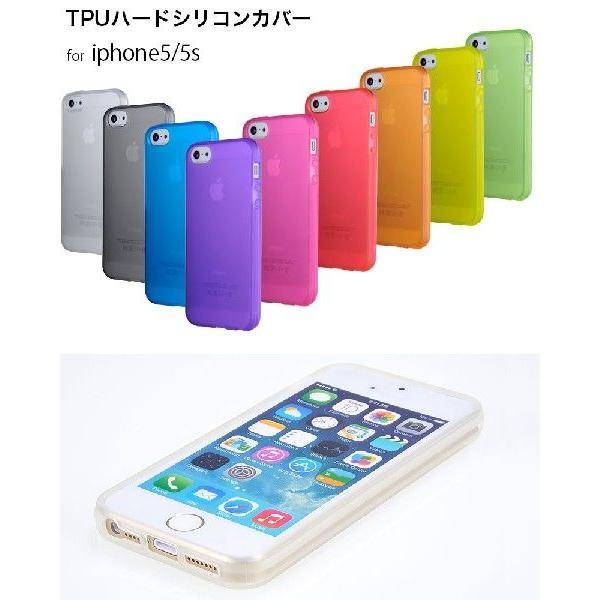 スマホケース 耐衝撃 iPhone ケース SE 初代 5s 5 カバー シリコン 4インチ アイフォン ケース 透明 半透明 クリア シリコン TPUハード さらさら 衝撃吸収 galleries 02