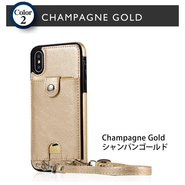 iphone se2 iphone 11 XR 8 7 ケース ショルダー 肩掛け 手帳型以外 スマホケース 11pro 11proMAX アイフォン ストラップ付き ネックストラップ 首掛け|galleries|07