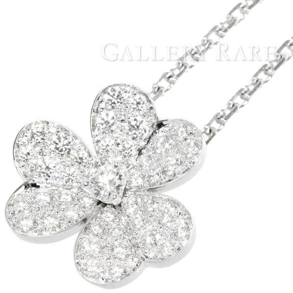 最高の品質 ヴァンクリーフ&アーペル ネックレス フリヴォル ペンダント スモールモデル ダイヤモンド 0.8ct K18WG ジュエリー, 甲奴郡 e6004178