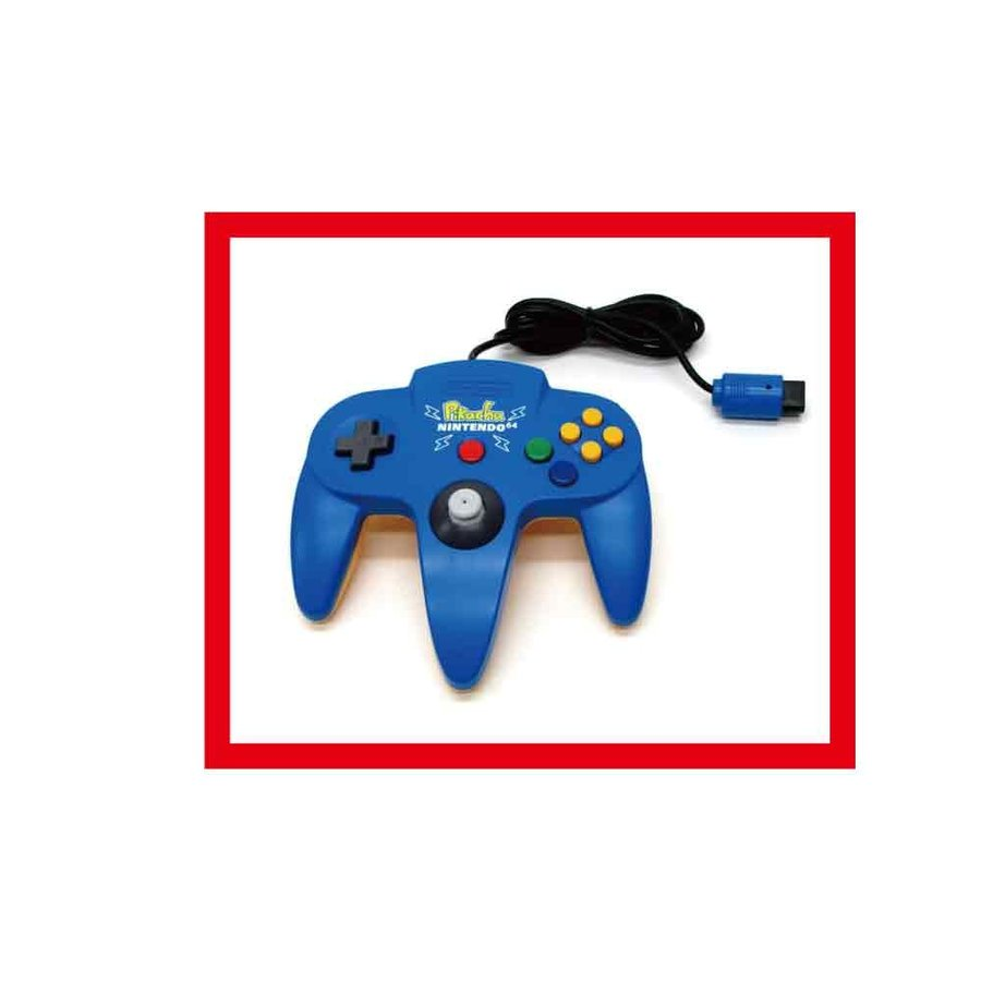 【新品】ピカチュウNINTENDO64コントローラブロス(ブルー&イエロー)【任天堂純正品】★新品未使用品ですが、外箱に、よごれ、きず、変色等がございます