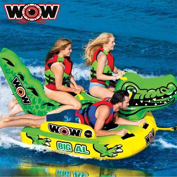 人気デザイナー WOW(ワオ) ビッグアリゲーター 4人乗りトーイングチューブ, エドウインショップ(EDWIN) 1b052973
