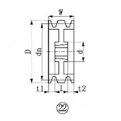 エバオン(株) EVN ブッシングプーリー SPA 212mm 212mm 212mm 溝数3 SPA212-3 1個【380-5620】 993